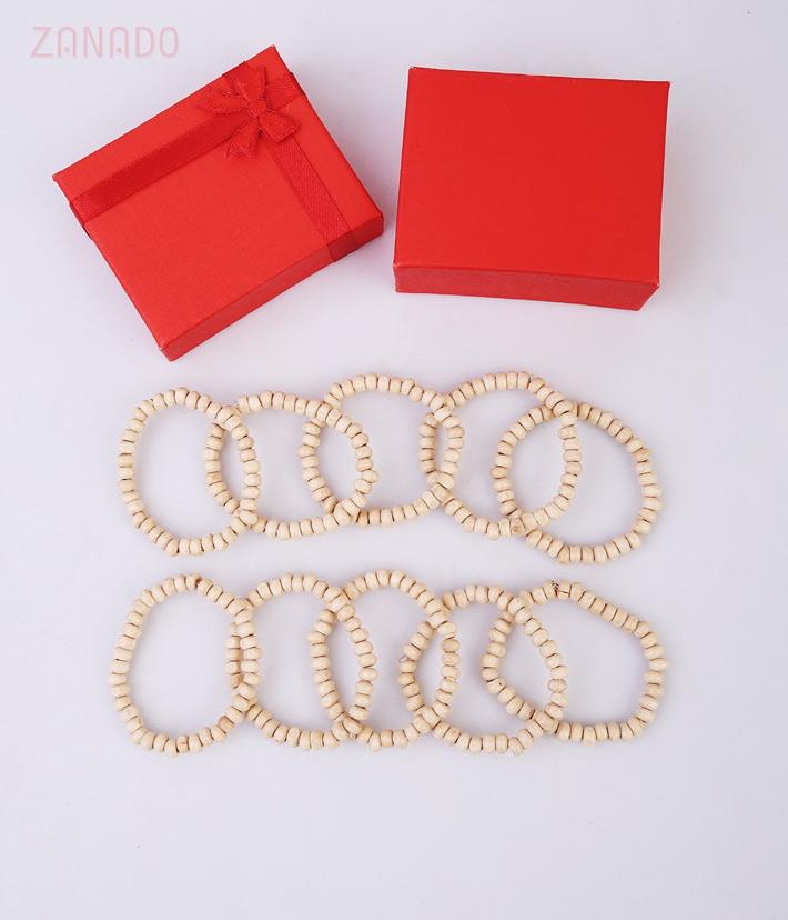 Combo 10 vòng tay dâu tằm hạt tròn - 5