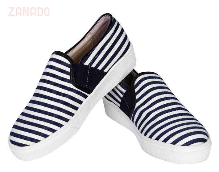Giày Slip - on MUST Korea sọc unisex U05 - 6