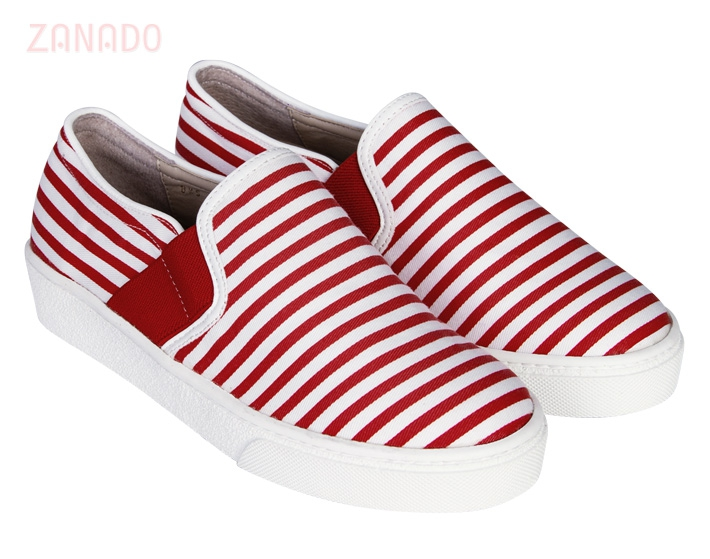 Giày Slip - on MUST Korea sọc unisex U05 - 2