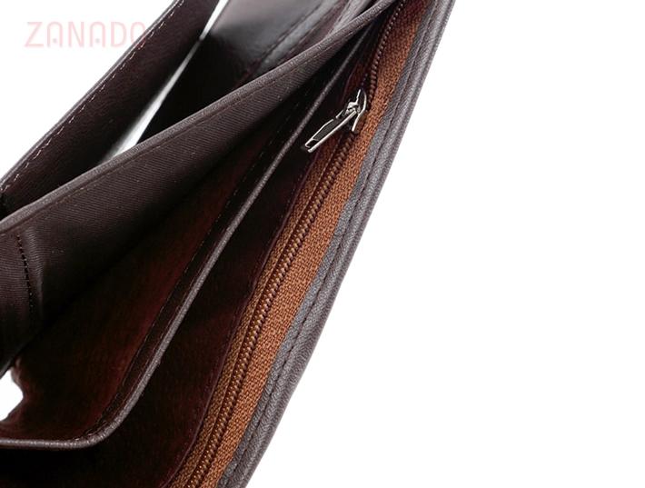 Ví da nam phối sọc Dugi Leather - 5