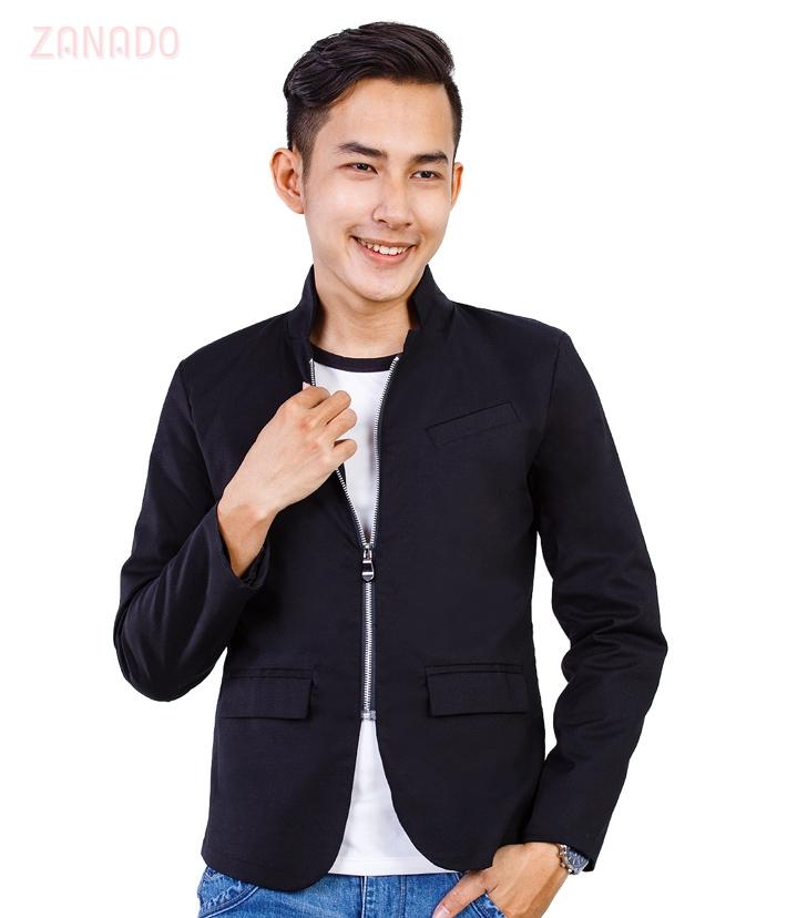 Áo khoác kaki nam giả vest lịch lãm - 1