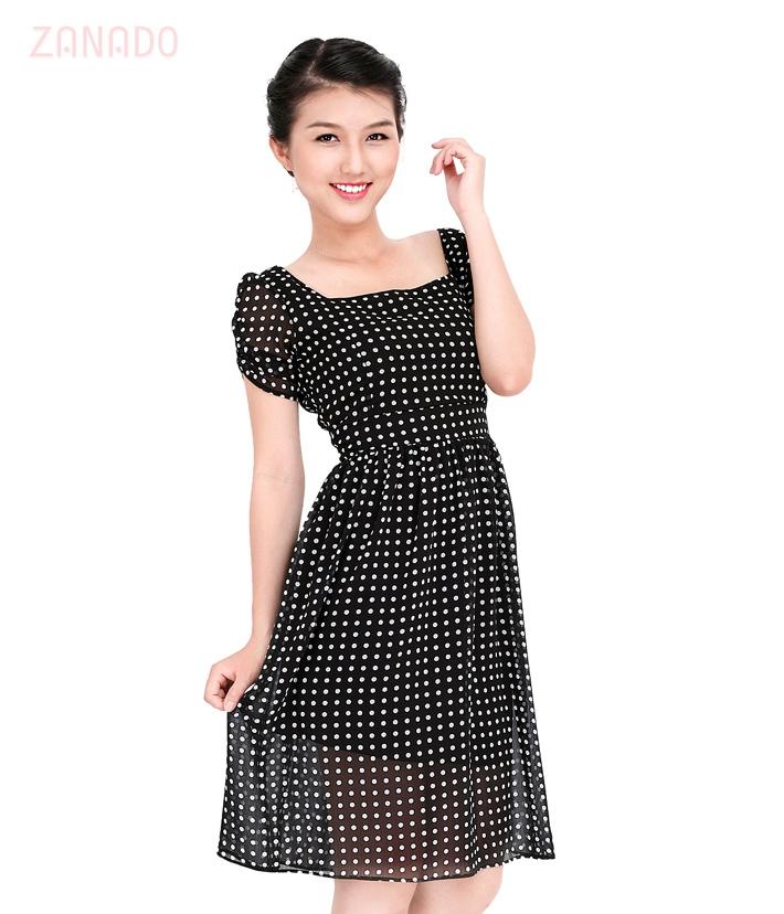 Đầm chấm bi Vintage - 3