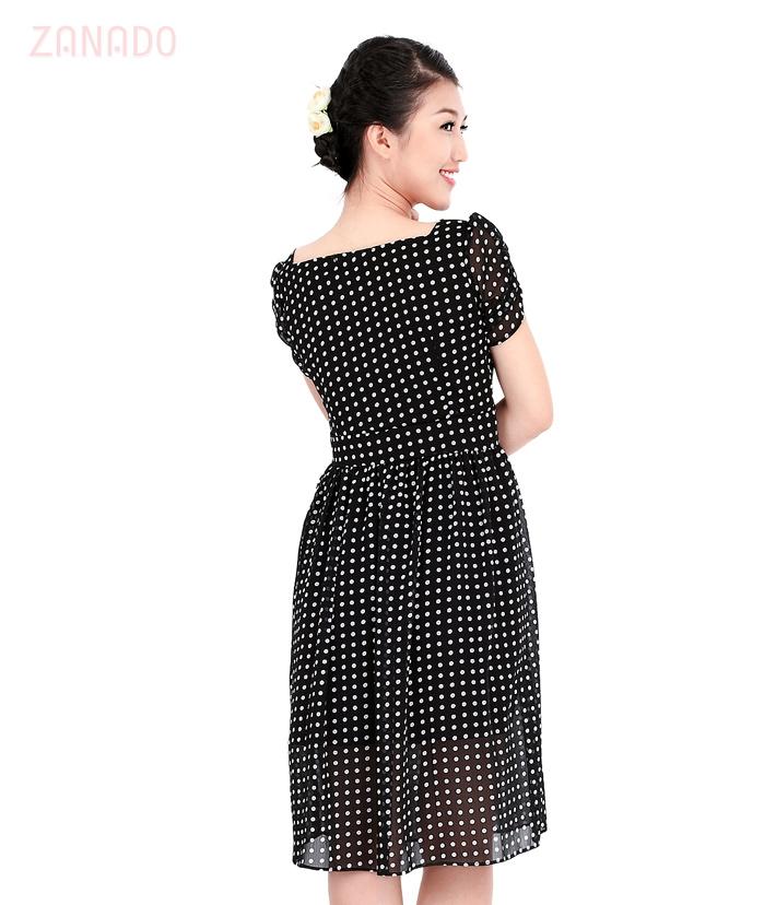 Đầm chấm bi Vintage - 4