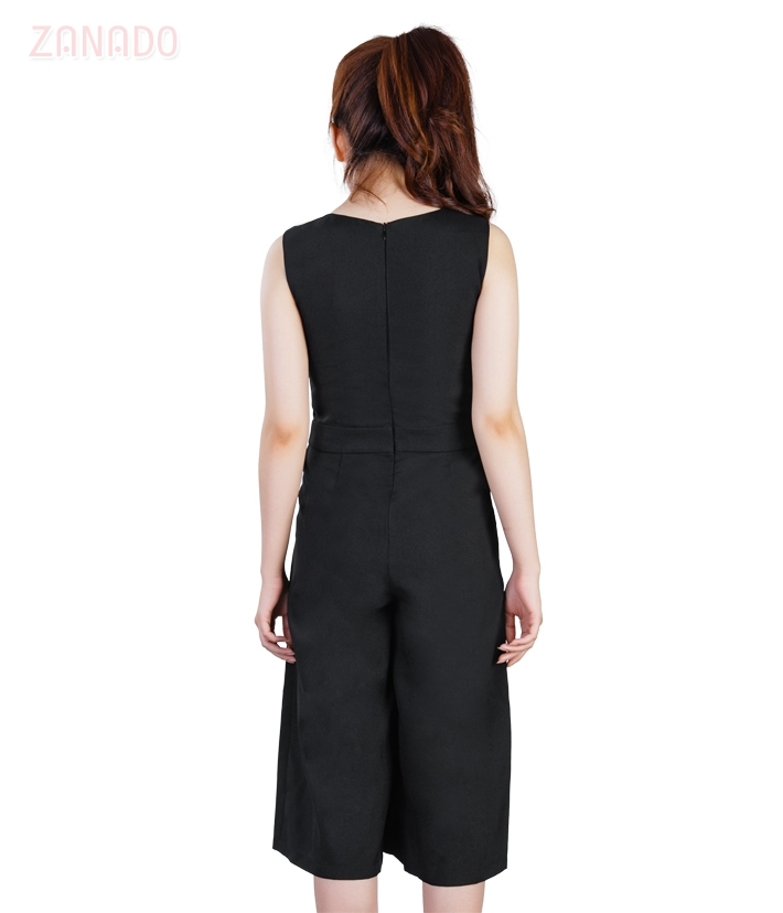 Jumpsuit cổ tim ống rộng KMODE - 3