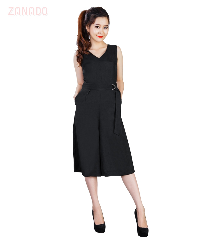 Jumpsuit cổ tim ống rộng KMODE - 6