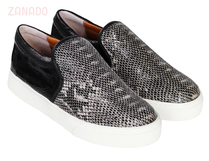 Giày Slip - on MUST Korea Unisex da rắn S02 - 1