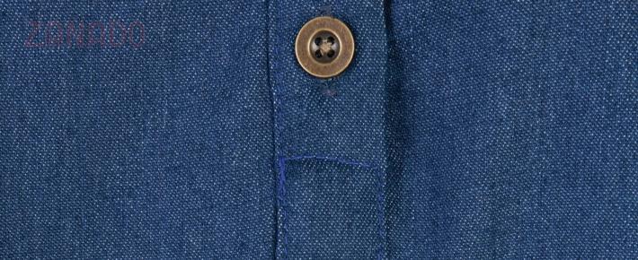 Đầm suông denim phối túi dễ thương - 5