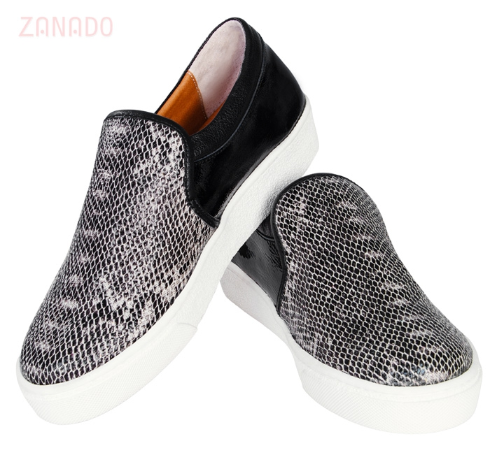 Giày Slip - on MUST Korea Unisex da rắn S02 - 5