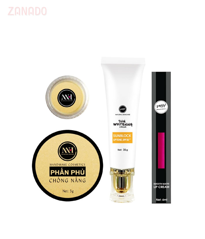 Combo make up MH Natural Skincare CBMK05 son hồng đất - 1