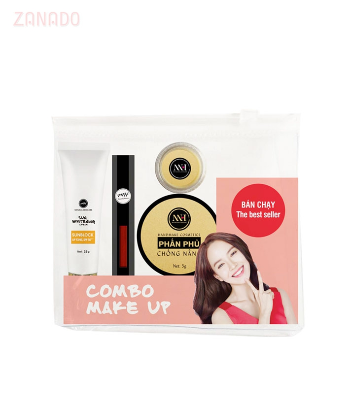 Combo make up MH Natural Skincare CBMK02 son đỏ đất - 3