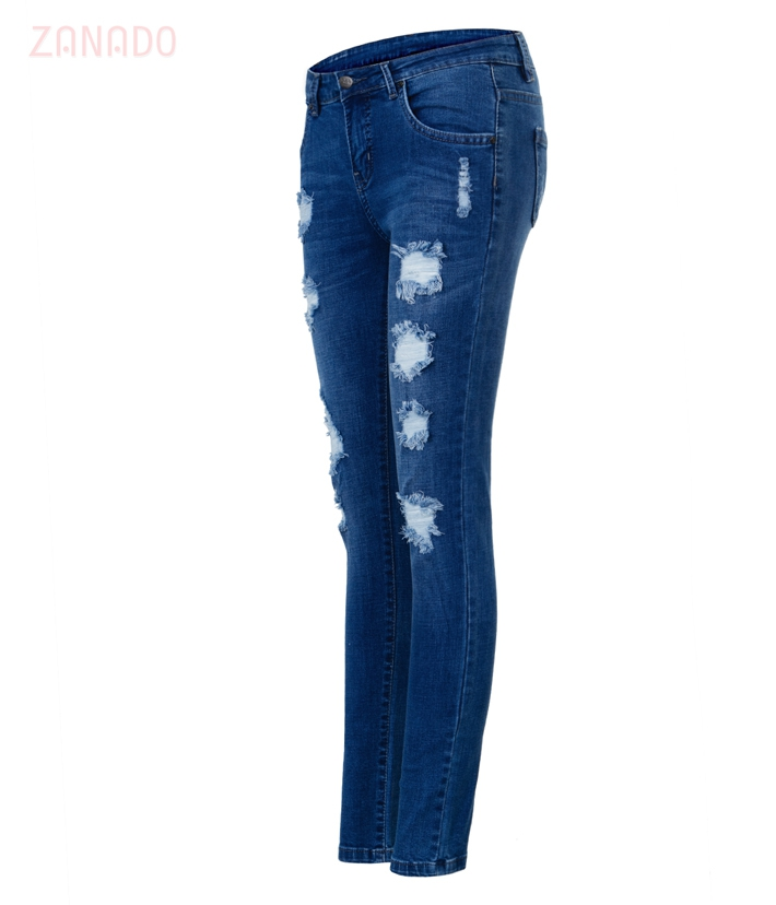 Quần skinny jeans rách nữ AAA JEANS XB - 2