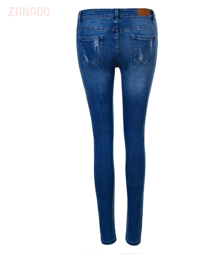 Quần skinny jeans rách nữ AAA JEANS XB - 3