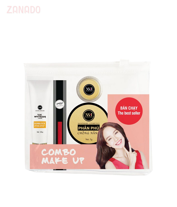 Combo make up MH Natural Skincare CBMK09 son cam hồng - 3