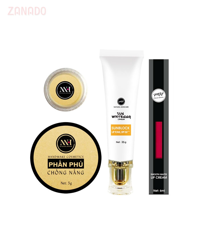 Combo make up MH Natural Skincare CBMK07 son hồng=490.000 ₫