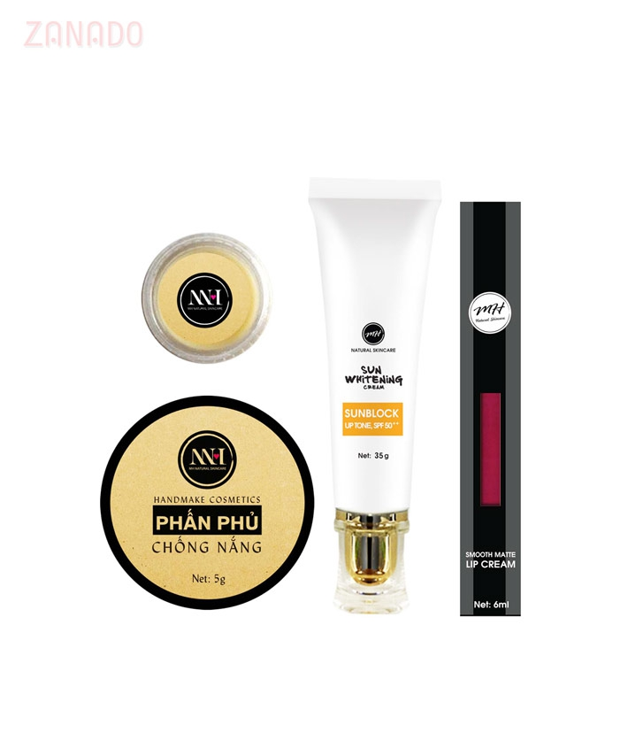 Combo make up MH Natural Skincare CBMK06 son hồng cam - 1