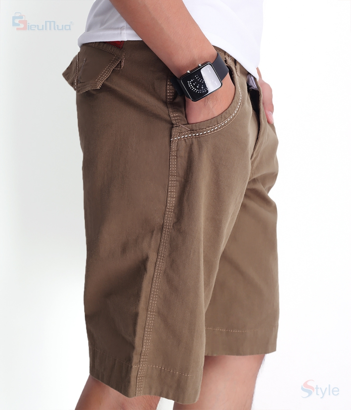 Quần short kaki nam milo color - 2