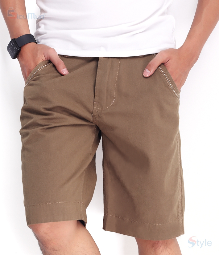 Quần short kaki nam milo color - 7