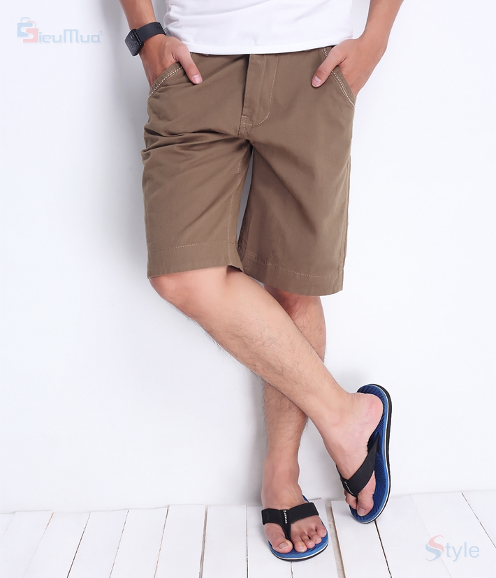 Quần short kaki nam milo color - 1