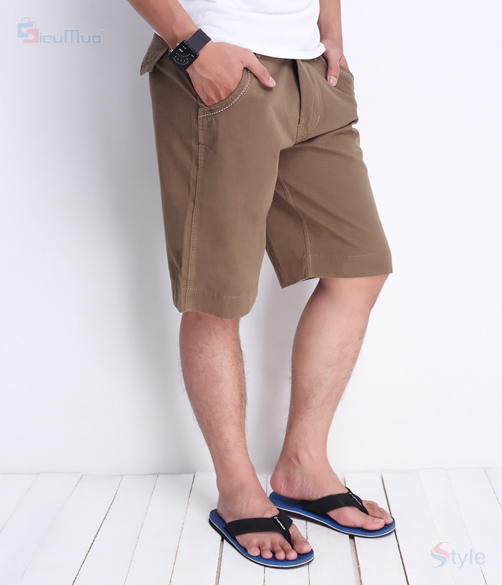 Quần short kaki nam milo color - 5