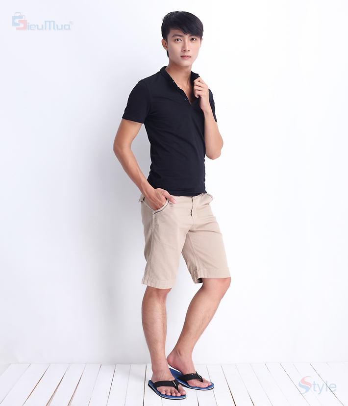 Quần short kaki nam color - 7