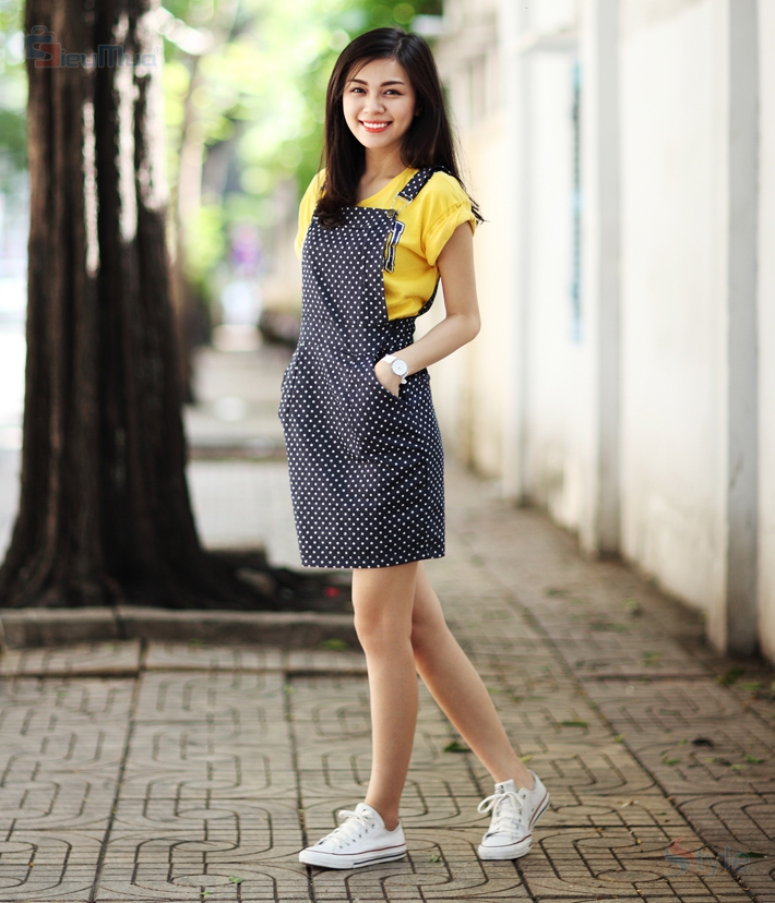 Đầm yếm denim Mordern fashion - 2