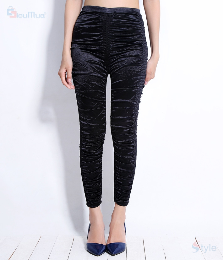 Quần legging thun nhún New fashion - 1