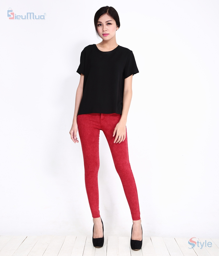 Quần skinny jeans nữ color - 1