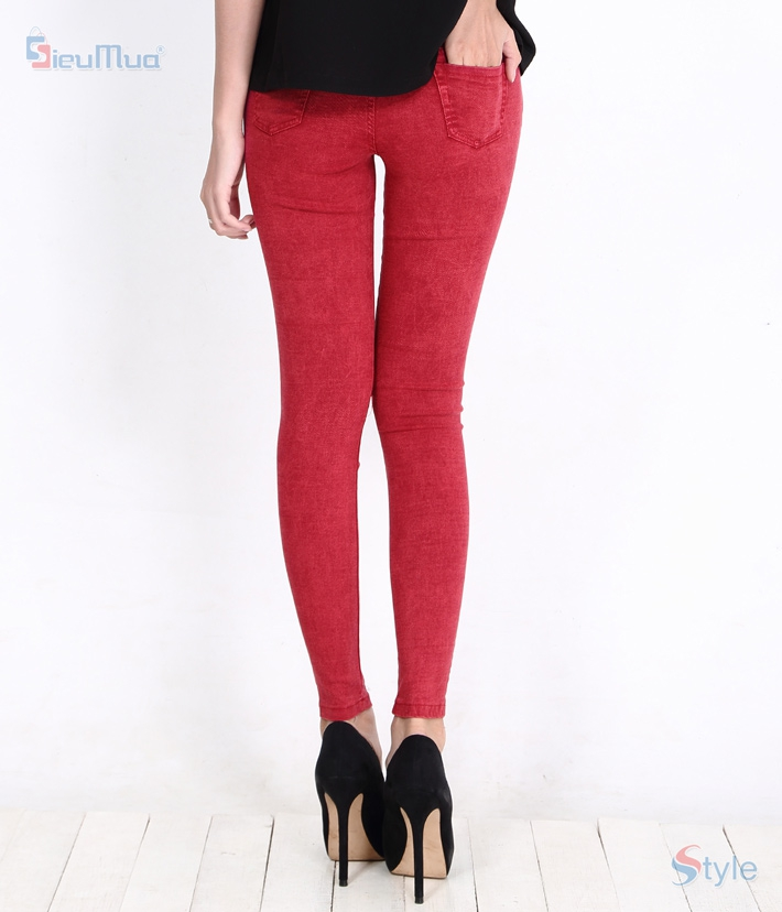Quần skinny jeans nữ color - 2