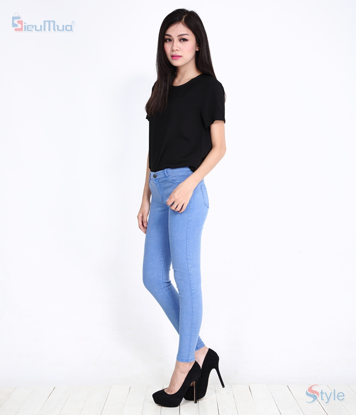 Quần skinny jeans nữ color - 5