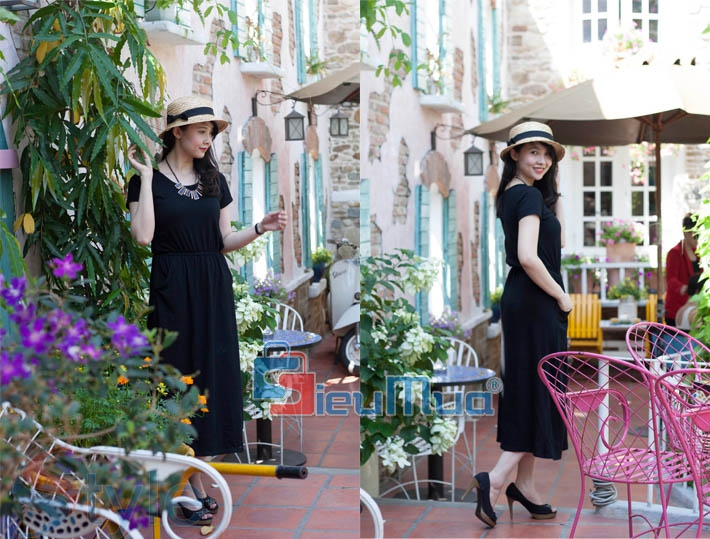 Đầm thun black fashion - 4