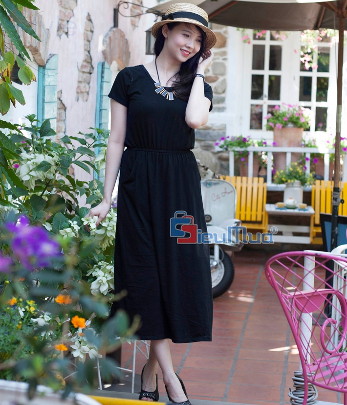 Đầm thun black fashion - 3