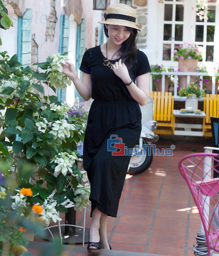 Đầm thun black fashion - 2