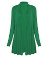 Áo choàng len dệt kim fom dài