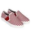 Giày Slip - on MUST Korea sọc unisex U05