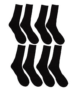 Combo 4 đôi vớ nam dài phối vân thể thao - Đen