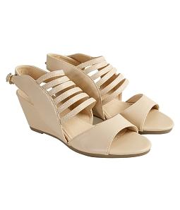 Giày cao gót đan quai chéo 7 phân M515 - Kem