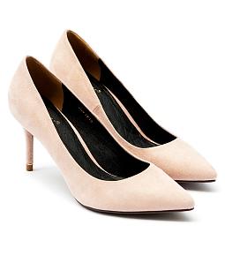 Giày cao gót mũi nhọn gót viền vàng G06-IV16 - Nude