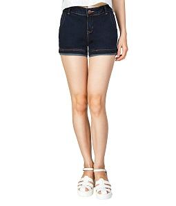 Quần short jean nữ 2 line Eco J-012A-M1 - Xanh đen