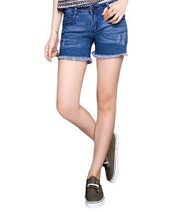 Quần short jean nữ Eco J-010-M3 - Xanh dương