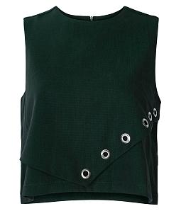Áo croptop nữ đục lỗ Style - Xanh lính