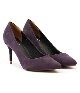 Giày cao gót mũi nhọn gót viền vàng G06-IV16 - Tím