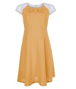 Đầm bầu phối nơ xinh xắn 063 - Vàng
