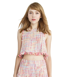 Áo crop top RAINBOW Can De Blanc H1003 - Hồng