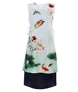 Áo dài cách tân phối váy điệu đà