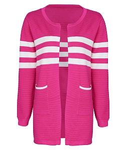 Áo khoác len phối màu thời trang