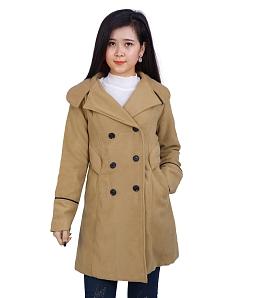 Áo khoác nữ form dài style - Nâu