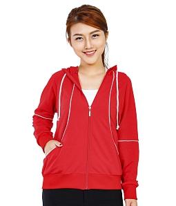 Áo khoác nữ phối viền trắng PA - Đỏ