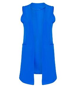 Áo khoác vest nữ dáng dài Hàn Quốc - Xanh dương