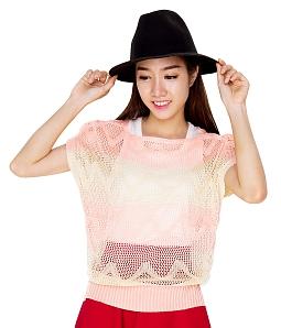 Áo len nữ gợn sóng thời trang