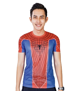 Áo thể thao Spiderman cao cấp ALIEN ARMOUR A076 - Đỏ